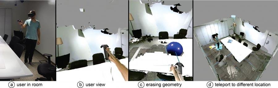 Außerkörperliche Erfahrung in Microsofts Mixed-Reality-Raum. Bild: Microsoft
