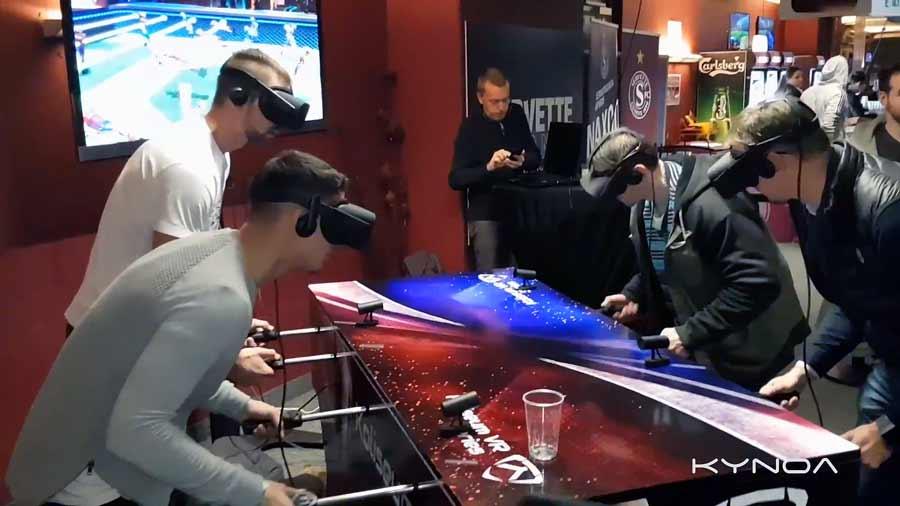 Ein VR-Startup aus der Schweiz baut einen waschechten Mixed-Reality-Tischkicker und haucht dem Traditionsspiel neues Leben ein.
