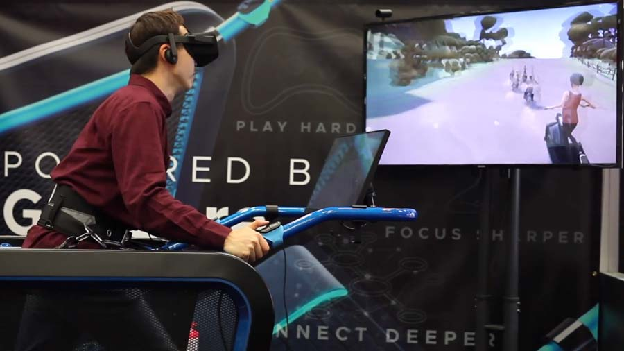 Dieses VR-Laufband macht euch fit in der Virtual Reality