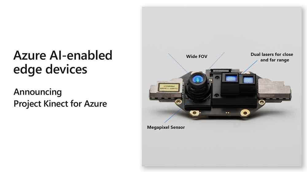 Microsoft stellt auf der Build-Entwicklerkonferenz eine neue Version des Kinect-Sensors vor. Er soll unter anderem KI-Systeme in der Industrie unterstützen.