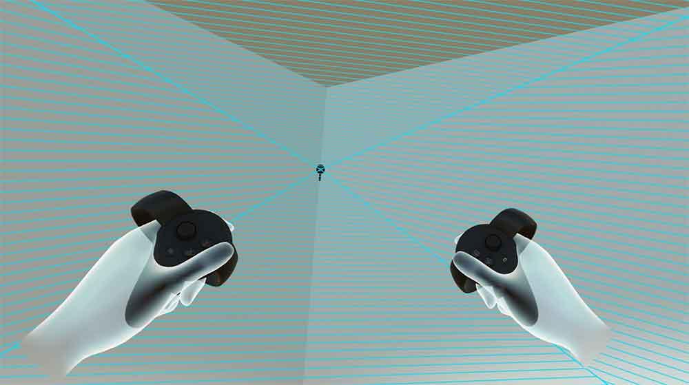 Eure virtuellen Hände machen sich an manchen Stellen im Raum eigenständig? Die VR-App Sensory Bounds hilft, Trackinglöcher zu stopfen.
