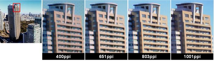 JDI kann hochauflösende LC-Displays bauen, aber keine hochauflösenden Screenshots zur Verfügung stellen. Leider! Bild: JDI