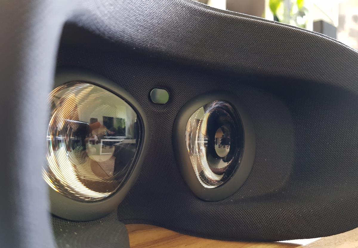 Die Linsen von Oculus Go haben einen leichten Fresnel-Schliff. Bild: VRODO