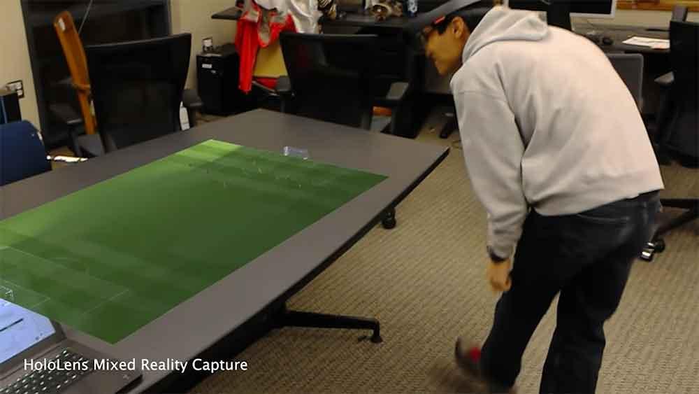 Wissenschaftler wollen mittels Augmented Reality und Künstlicher Intelligenz Fußballspiele in 3D ins Wohnzimmer projizieren.