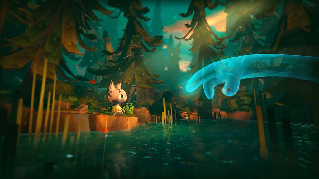 """Sony kündigt mit """"Ghost Giant"""" ein neues Abenteuerspiel für Playstation VR an, das von Grund auf für die VR-Brille entwickelt wurde. Es will mit Zuckeroptik und Beziehungsmanagement überzeugen."""