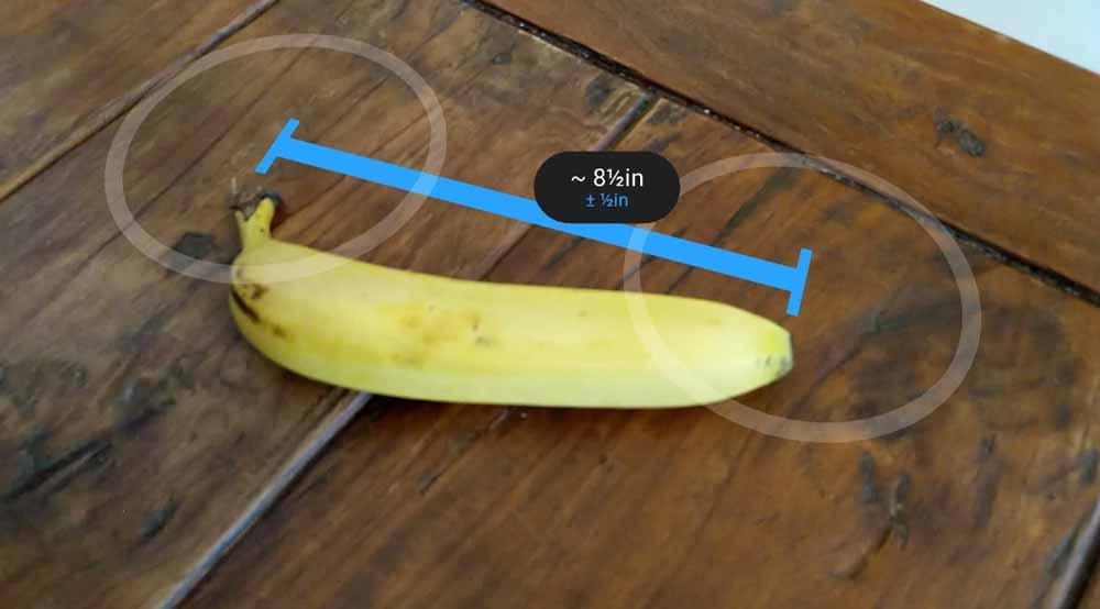 """Was war die Killer-App des Smartphones? Richtig, die Taschenlampe. Kann Googles Zollstock-App """"Measure"""" dasselbe für Augmented Reality leisten?"""