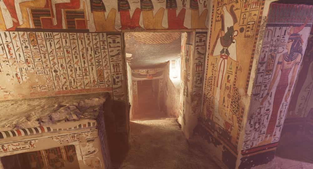 Die Stiege hinab zu Neferatri - die Atmosphäre in der VR-Grabkammer ist sehr dicht.