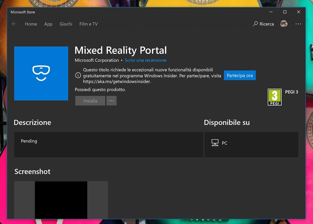Offenbar nimmt Microsoft bei Windows Mixed Reality den Fuß ein wenig vom Gas: Im Herbst könnte das Mixed-Reality-Portal seinen Status als System-App verlieren.