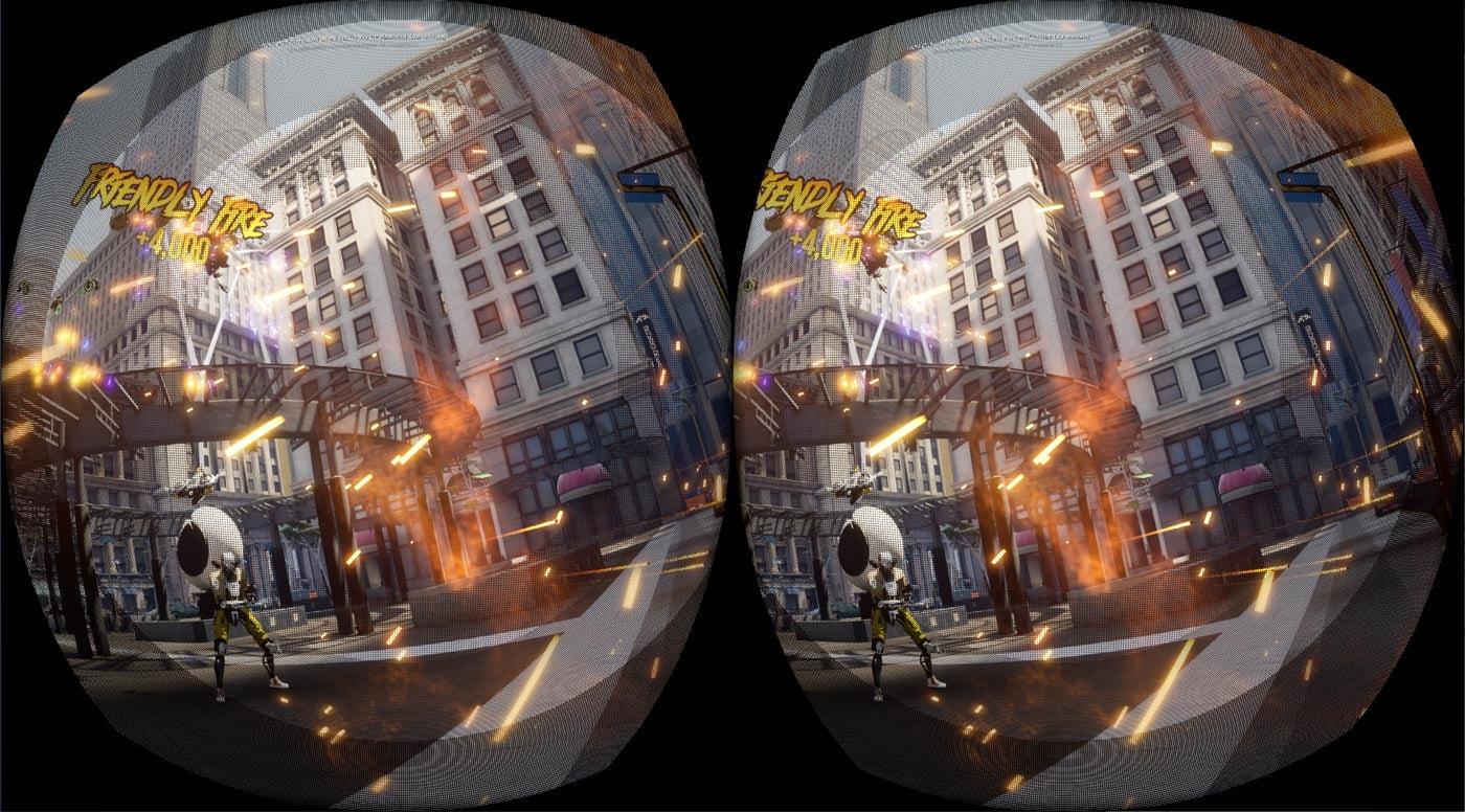 Zu den Rändern hin wird die Pixelqualität in 25-Prozent-Schritten reduziert. Bild: Oculus