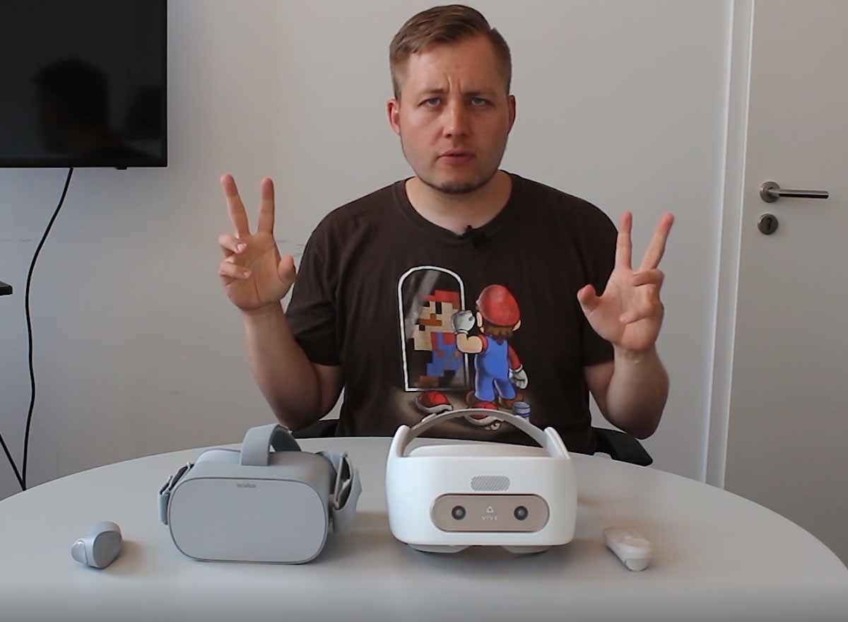 2018 steht voll im Zeichen autarker VR-Brillen: Oculus Go ist schon da, Vive Focus erscheint im Laufe des Jahres. Christian testet die Entwicklerversion von Vive Focus seit einigen Tagen ausführlich, zieht ein Zwischenfazit und vergleicht die VR-Brille mit Oculus Go.