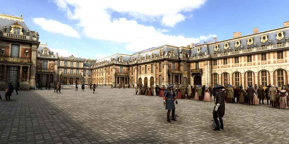 """Die VR-Erfahrung """"Vivez Versailles"""" lässt VR-Nutzer zwei historische Ereignissen in der prunkvollen Königsresidenz nacherleben."""