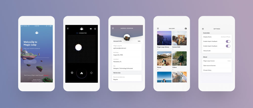 Magic Leaps Smartphone-App in der Übersicht. Bild: Magic Leap