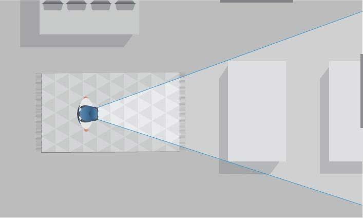 Wenn man weiter von einem digitalen Objekt entfernt steht, passt mehr von ihm in das Sichtfeld. Bild: Magic Leap