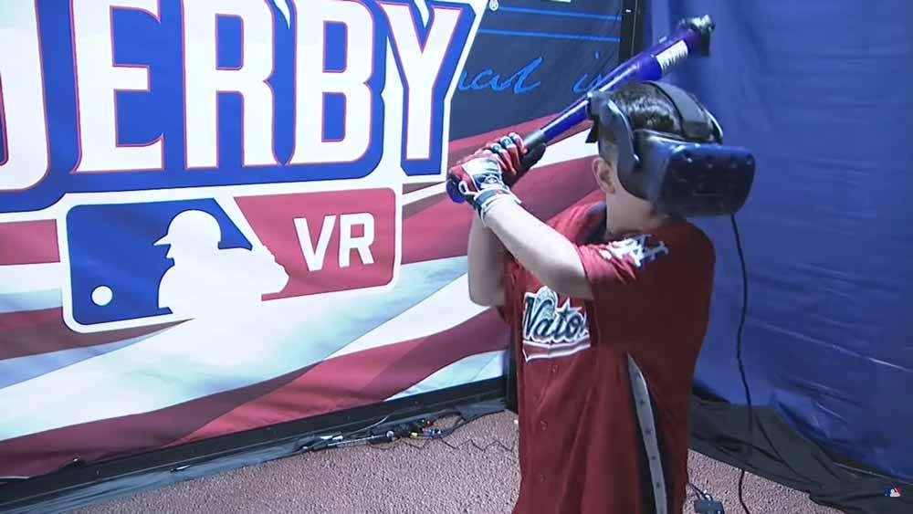 In Virtual Reality triumphieren die Knirpse: Beim VR-Baseball sind Kraft und Größe egal. Das gute Auge zählt und eine schnelle Reaktion.