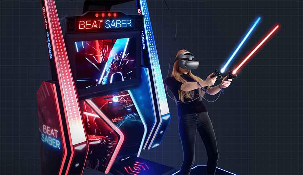 Die Macher des VR-Kultspiels Beat Saber wollen es wissen und bringen einen Arcade-Automaten für Spielhallen heraus.