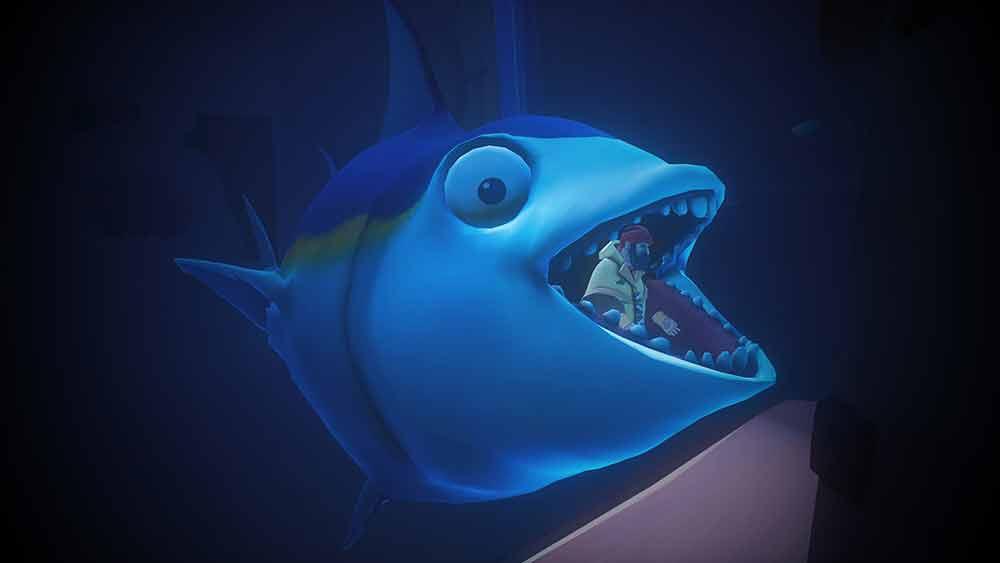 Im Maul eines großen oder kleinen Fisches wechselt ihr zwischen den Welten. Bild: Innerspace VR
