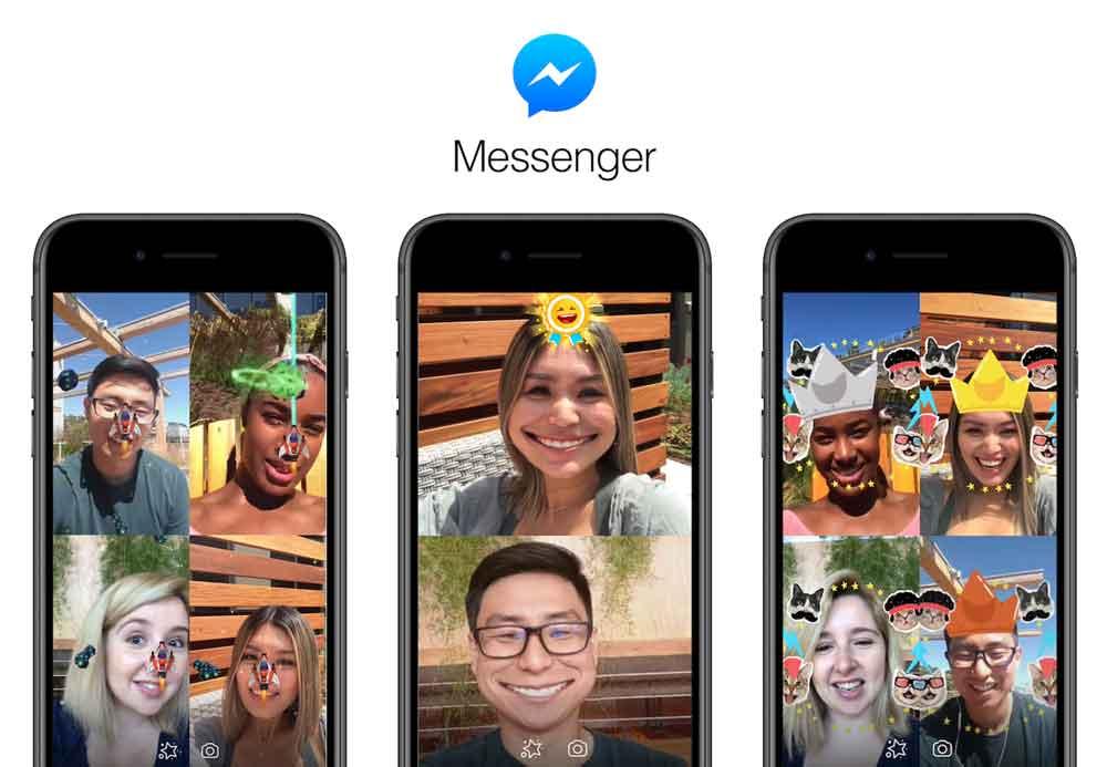 Facebook erweitert die Augmented-Reality-Angebote im Messenger um Spiele.