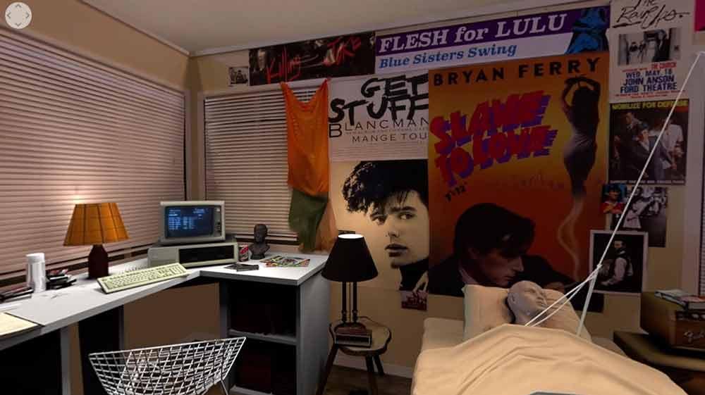 Die volle Dosis 80er-Jahre US-Charme gibt's in Ferri's Room VR. Man, war das schön analog.