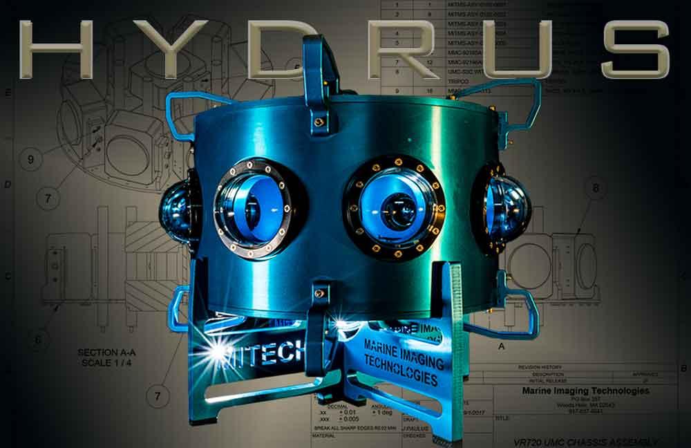 Hydrus VR soll professionelle Unterwasseraufnahmen in 3D und mit bis zu 8K ermöglichen. Sie ist optimiert für die dunklen Meeresumgebung.