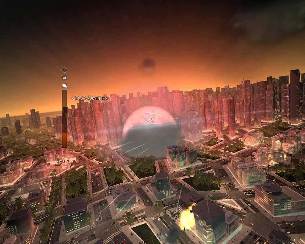 Zu spät gekommen: Der nukleare Sprengsatz ist explodiert.
