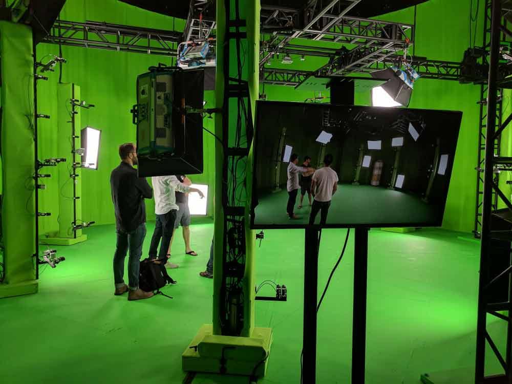 Das Studio ist recht kompakt, Szenen können nur in einem begrenzten Raum stattfinden. Bild: Metastage