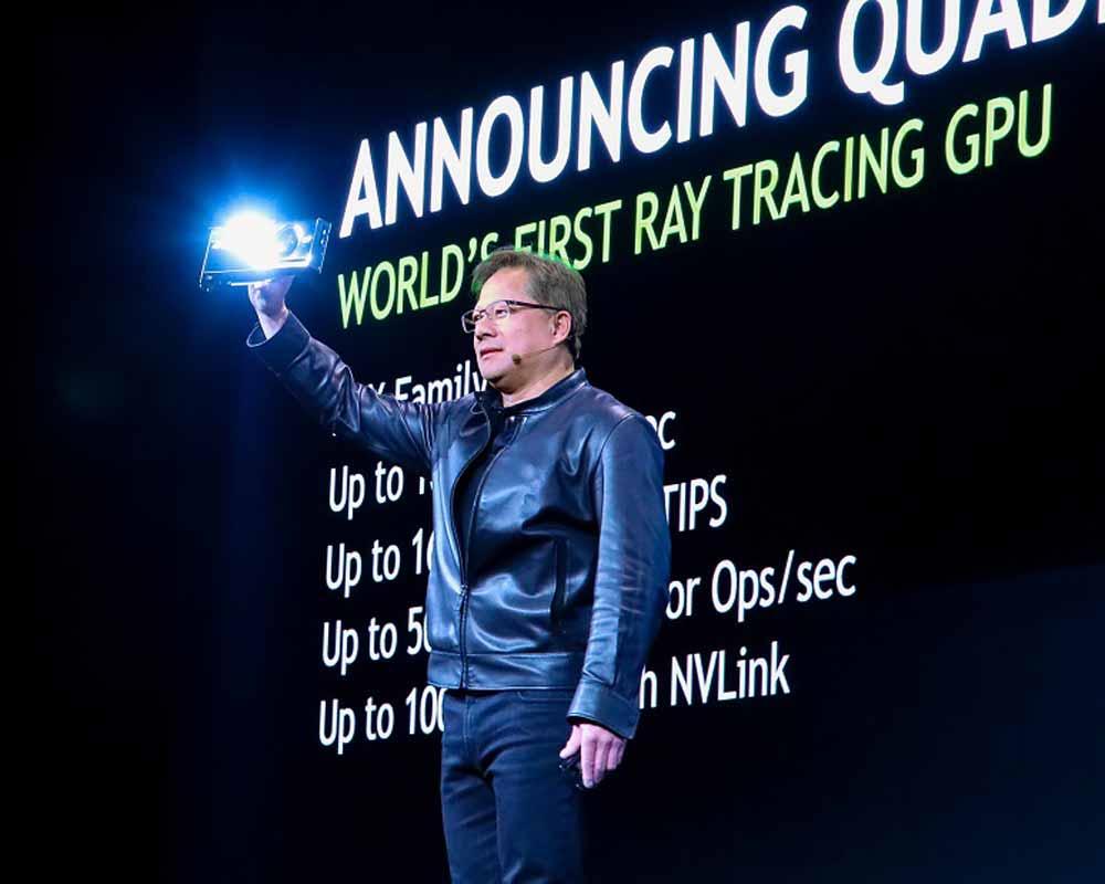 Auf der Siggraph-Fachkonferenz für Computergrafik setzte Nvidia vergangene Nacht den Startpunkt für die nächste Generation Grafikkarte. Die bietet einen Spezialanschluss für Virtual-Reality-Brillen.