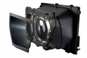 Das Eye-Tracking-Modul von Tobii. Die LEDs an den Rändern leuchten das Auge aus, sodass eine Minikamera die Pupille besser erfassen kann. Bild: StarVR