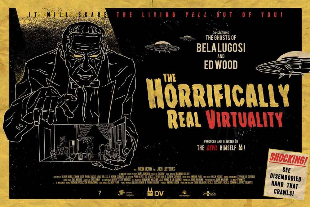 The Horrifically Real Virtuality ist ein außerordentlich ambitioniertes VR-Projekt. Bild: Rosenthal / Reilhac