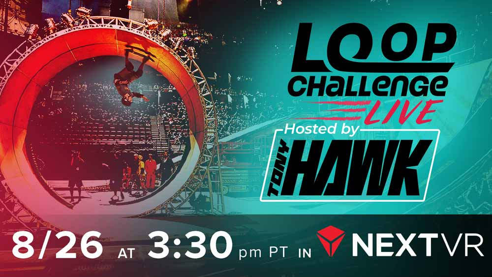 NextVR überträgt heute Nacht live aus Tony Hawks Hinterhof:Packen die Skater den Looping oder gibt's Verletzte?