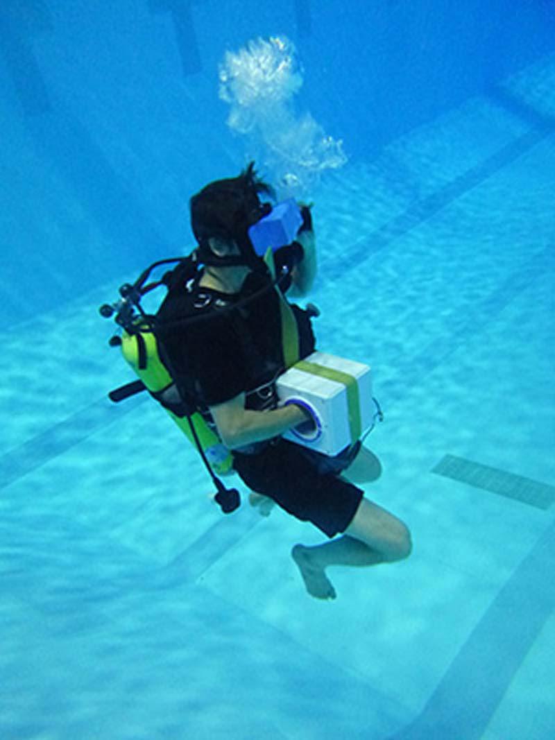 Unterwasser-VR könnte Astronauten beim Training für Weltraumeinsätze unterstützen. Bild: Universität Nevada
