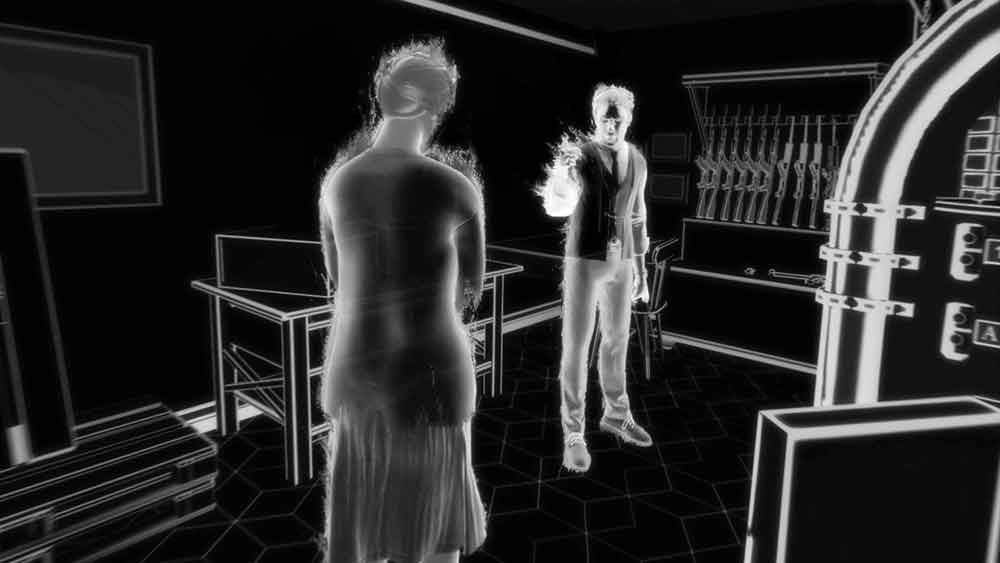 In Blind schlüpft man in die Rolle einer jungen Frau, die an einem unbekannten Ort aufwacht und mit Schrecken feststellen muss, dass sie fast gar nichts mehr sieht.
