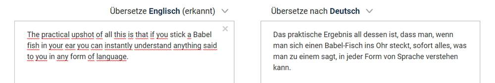 | DeepL Übersetzer BF