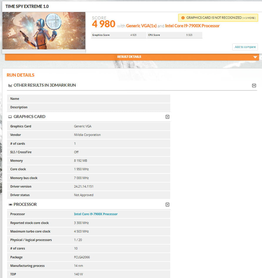   GeForce RTX 2080 Time Spy