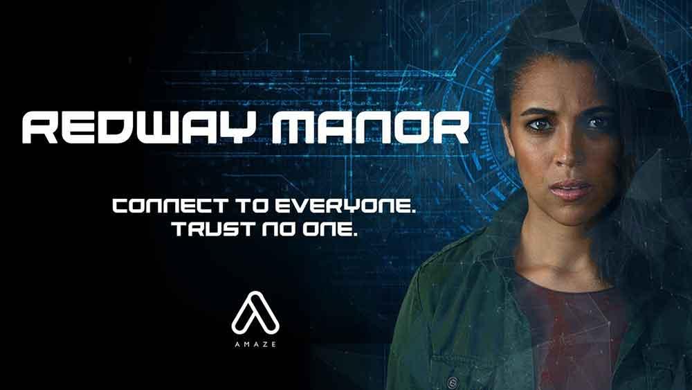 """Die VR-Videoplattform Amaze veröffentlicht regelmäßig Eigenproduktionen in stereoskopischen 180-Grad. """"Redway Manor"""" heißt das neueste Werk."""