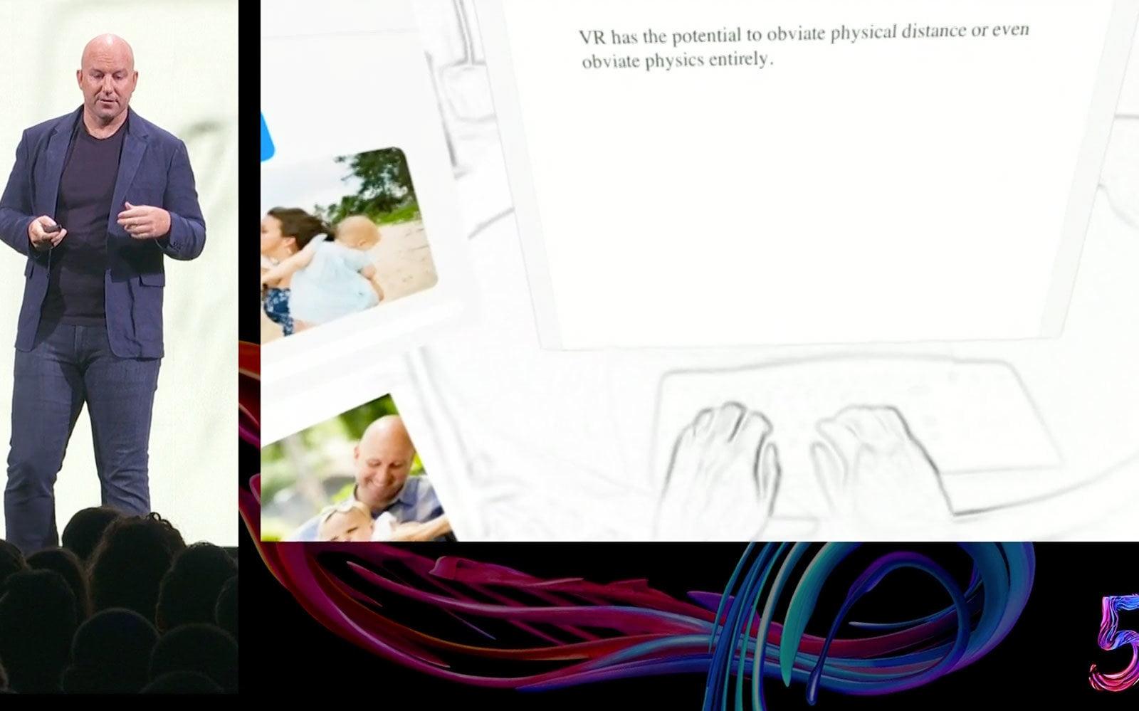 Ein Mixed-Reality-Desktop im Wohnzimmer mit Oculus Quest. Die Funktion ist noch experimentell. Bild: Screenshot