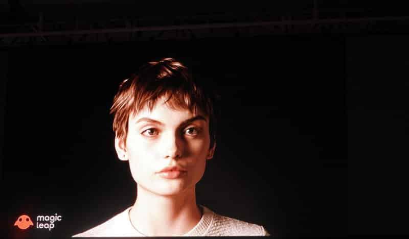 Auf der hauseigenen Entwicklerkonferenz demonstrierte Magic Leap eine realistisch animierte digitale Frau. Journalisten konnten sie in Augenschein nennen.