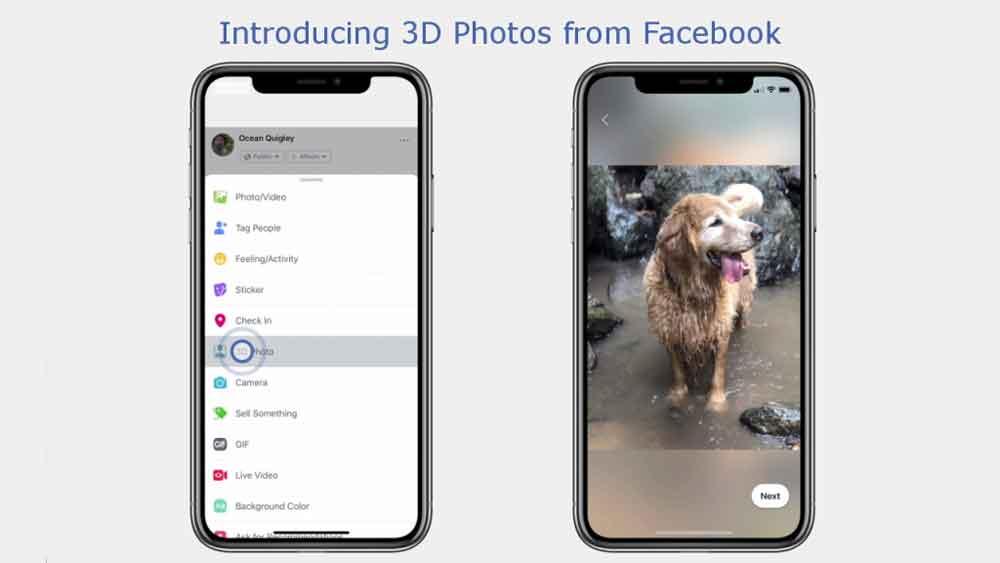 Facebook macht den nächsten Schritt hin zu mehr 3D-Inhalten im Nachrichtenstrom: Derzeit rollt eine 3D-Foto-Funktion für Dual-Kamera-Smartphones aus.