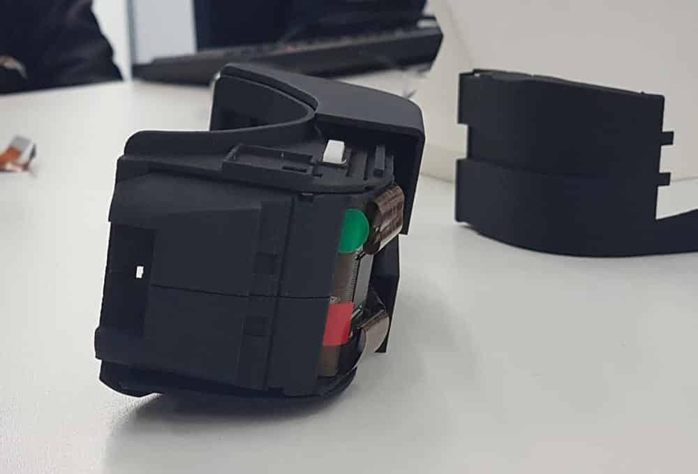 Die Prototyp-Brille von der Seite. Bild: Kammann