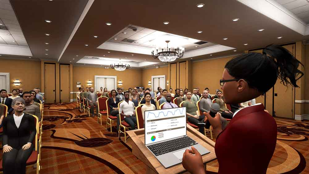 Mit Oculus Rift und HTC Vive virtuell vorsprechen: Die VR-App Ovation macht's möglich.