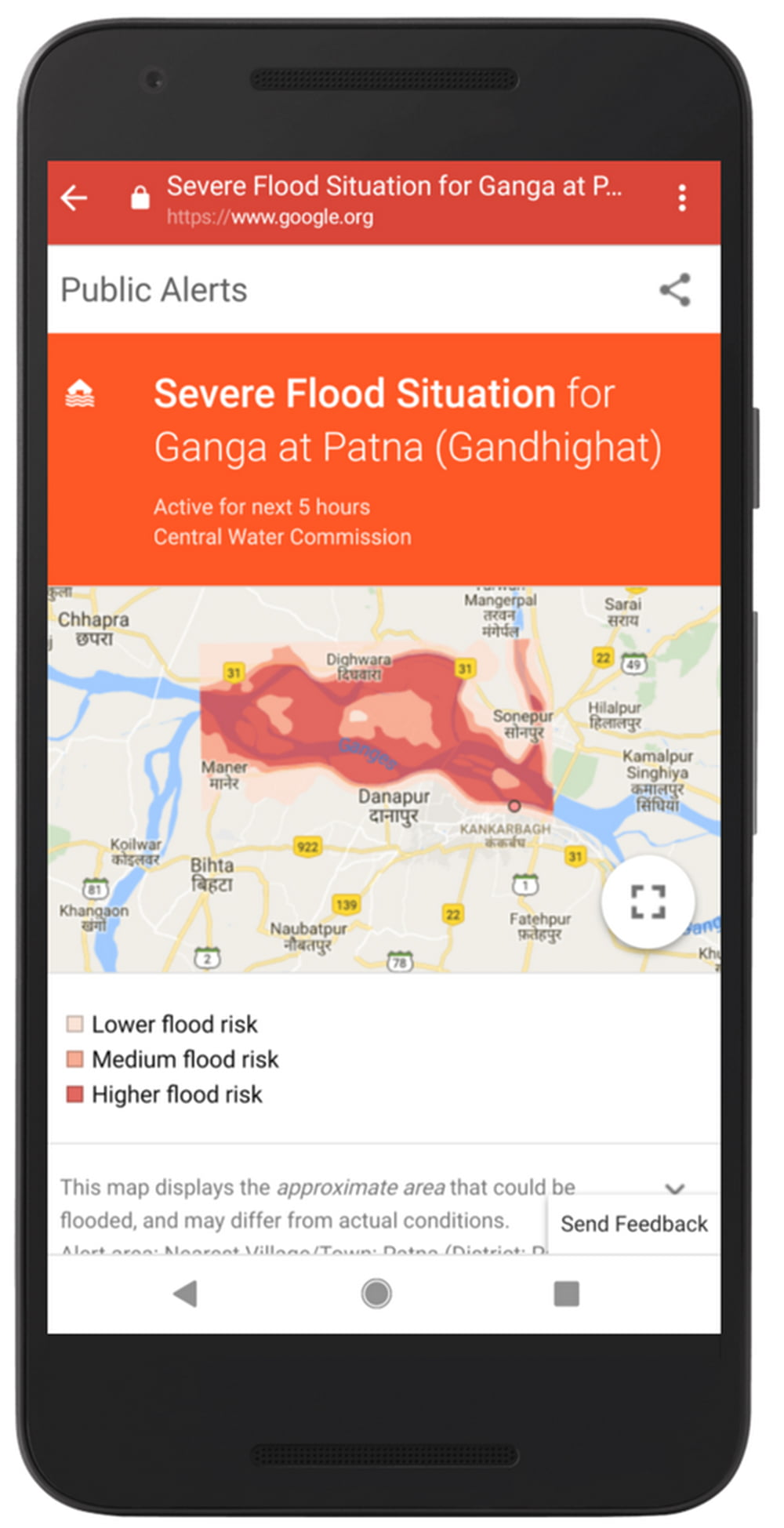 Googles Künstliche Intelligenz warnt vor Flutkatastrophen