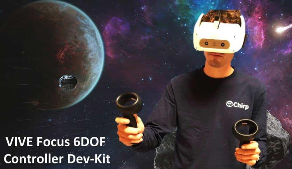 Die VR-Controller für Vive Focus orientieren sich räumlich über Ultraschall.