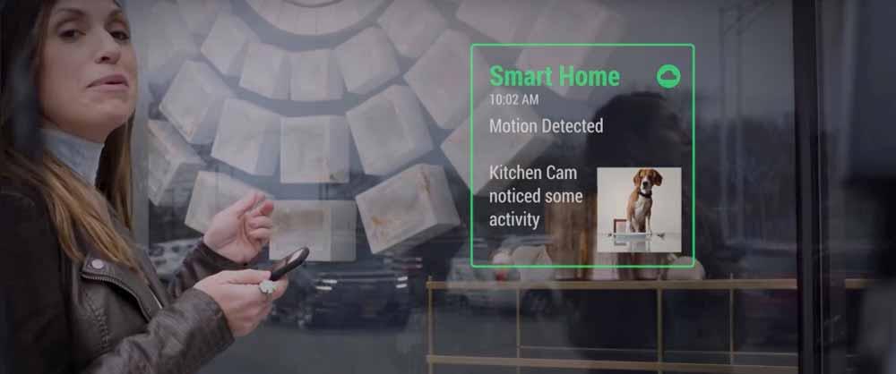 Vuzix bietet eine Smart-Home-Anbindung und alarmiert, wenn der räuberische Beagle in der Küche unerlaubt übers Essen herfällt. Bild: Vuzix