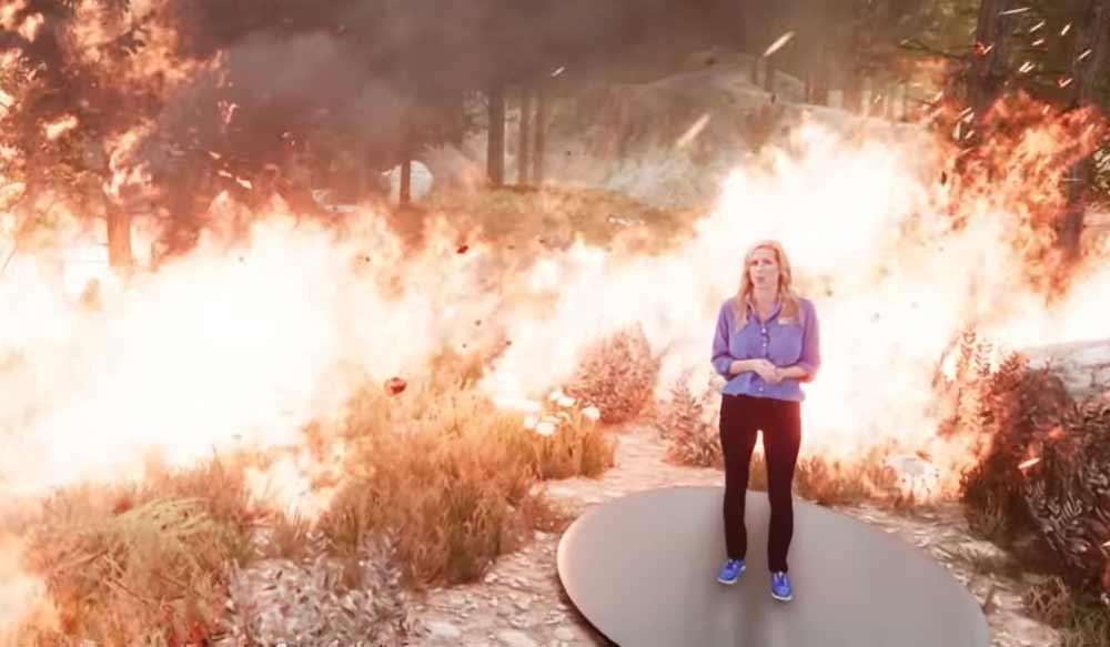 Waldbrand: Furchteinflößender Mixed-Reality-Wetterbericht Runde zwei