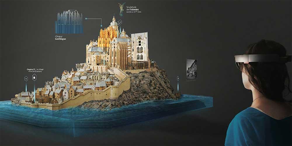 In einem Pariser Museum können Besucher eine 300 Jahre 3D-Rekonstruktion mittels Hololens besser verstehen und schätzen lernen.