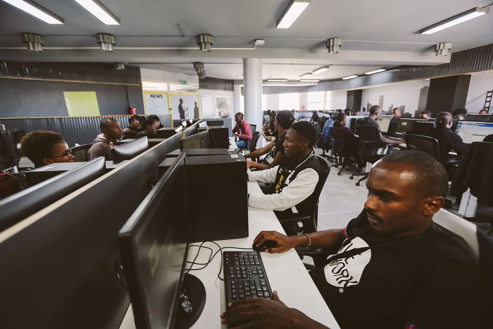 | The Samasource Center in Nairobi Kenya