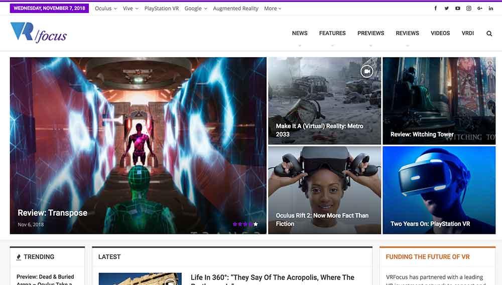 Während fast fünf Jahren berichtete die britische Webseite VRFocus täglich über die Mixed-Reality-Industrie. Nun schließt das Portal.