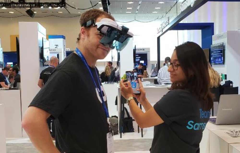 """Auf der eigenen Entwicklerkonferenz stellt Samsung """"Project Whare"""" vor, eine Augmented-Reality-Cloud, die digitale Objekte in der Realität verankern und Nutzer verbinden soll."""