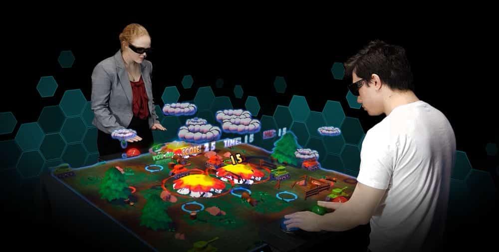 Das australische Unternehmen Euclideon will mit farbenfrohen, interaktiven Hologramm-Tischen den Spielhallenmarkt beleben.