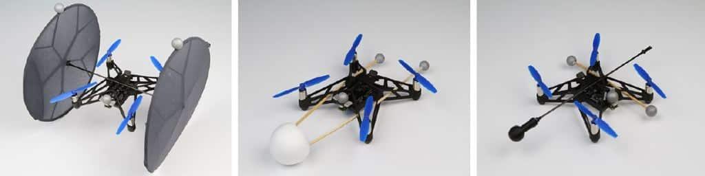 Je nach erwünschtem Haptik-Feedback kann der Drohnenaufsatz angepasst werden.