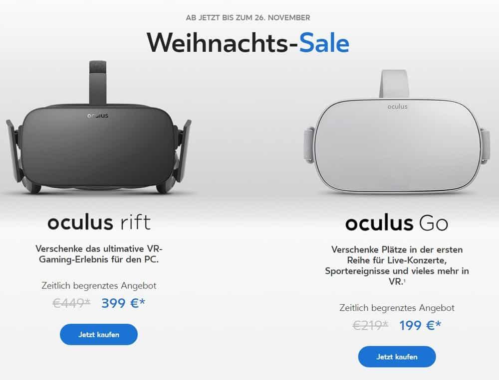 Oculus Rift und Oculus Go Angebot: Preisnachlass am Black Friday